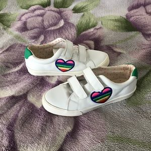 Fun Low Top Leather Sneakers by Mini Boden